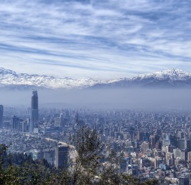 a view on santiago, chile