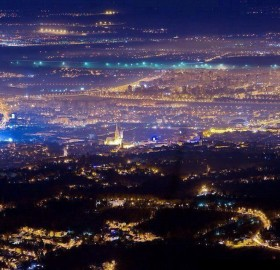 city of zagreb at night, croatia