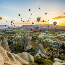 hot air balloon ride in cappadocia, turkey