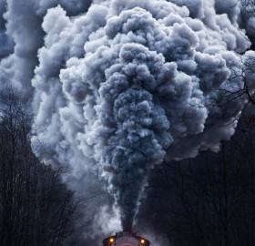 powerful train locomotive