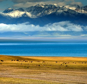 sayram lake, china