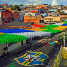 streets of rio grande do sul decorated for world cup