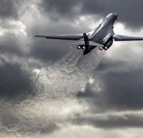 stunning B-1B take off