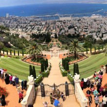 the bahaí gardens in haifa, israel