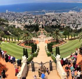 the bahaí gardens in haifa, israel