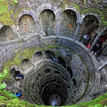 the inverted tower, sintra, portugal