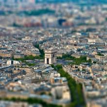 tilt-Shift arc de triomphe, paris