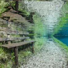 underwater submerged park, austria