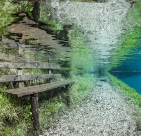 underwater submerged park, austria