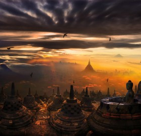 breathtaking borobudur temple, indonesia