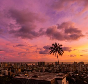 sky over honolulu, hawaii