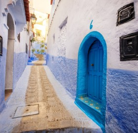 blue alley, morocco