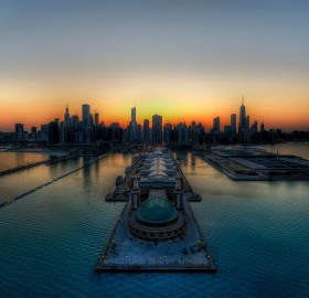 chicago pier from above