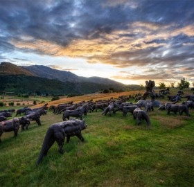 sculptures around queenstown, new zealand