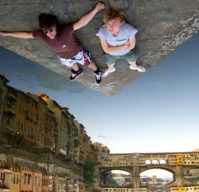 forced perspective, florence, italy