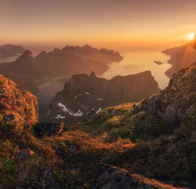 looking at senja island, norway