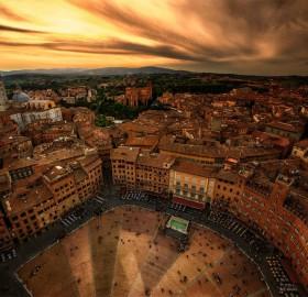 medieval city of siena, italy