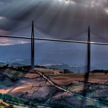 millau viaduct, a cable-Stayed bridge in france