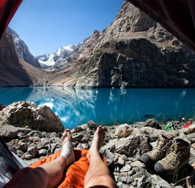 morning view from a tent
