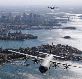 royal australian transport aircrafts over sydney