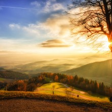 sunrise in austria