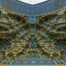 ceiling of the mosque, iran
