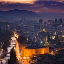 city of sarajevo, bosnia and herzegovina