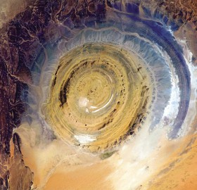 """eye of the sahara"", a geological phenomenon"