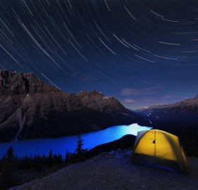 stars over peyto lake