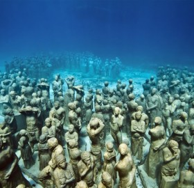 the underwater museum, isla mujeres, mexico