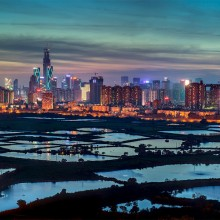 A View on City of Shenzen, China