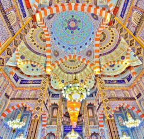 Ceiling of Mosque in Erbil, Iraq