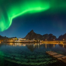 Northern Lights Over Lofoten, Norway