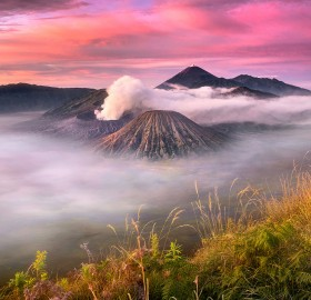 Clouds Over Bromo Volcano, Indonesia