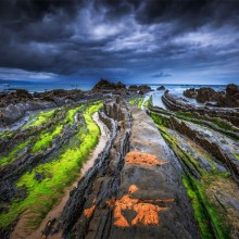 Colors of Barrika Coast, Spain