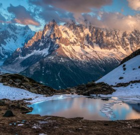 Lake In Chamonix-Mont-Blanc, France