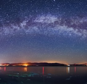 Milky Way Over Danube River, Serbia