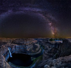 Milky Way Over Palouse Falls, Washington