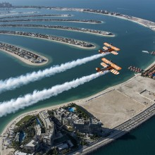 1940′s Airplanes Over Palm Jumeirah, Dubai