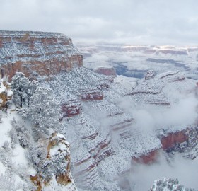 A Snow Over Grand Canyon National Park