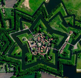 A View From Satellite On Bourtange Village, Holland