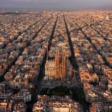 Aerial View Of Wonderful Barcelona