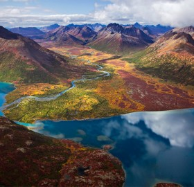Aerial View On Chikuminuk Lake, Alaska