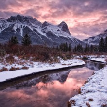 Sunset In Canmore, Alberta, Canada
