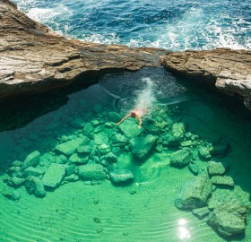 Crystal Clear Natural Pool, Giola Lagoon, Greece
