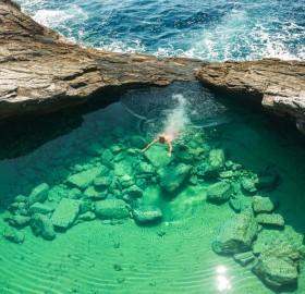 Crystal Clear Natural Pool, Giola Lagoon, Greece