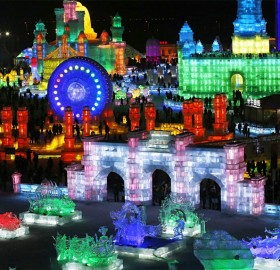 Ice Sculptures At Harbin International Ice And Snow Festival, China