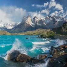 Lake Pehoe, Patagonia, Chile