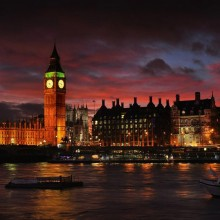 London Glowing At Twilight