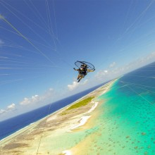 Paragliding In The South Pacific